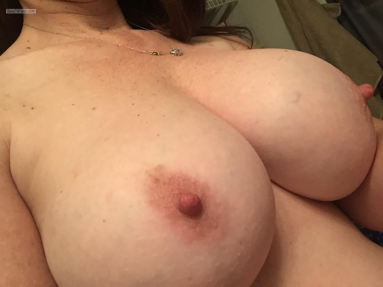Tit Flash: My Medium Tits (Selfie) - Amy from United States